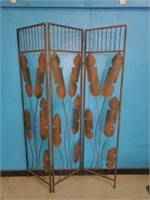 6ft Metal Boho Leaf Decor Room Divider