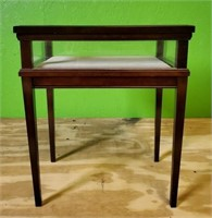 Small Wooden Framed Shadow Box Side Table