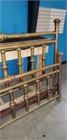 Super Antique King Sized Brass Bed & Rails