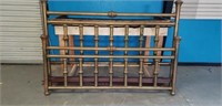 Super Antique King Sized Brass Bed & Rails