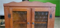 Beautiful Vintage Wooden Corner Cabinet with Glass