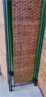 Beautiful Metal Frame Wicker Like Room Divider