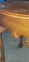 Ball and claw wood side table