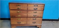 Vintage C.B.Atkins Co Wooden 3 Drawer Chest
