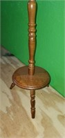 Small Vintage Wooden Round Plant Stand