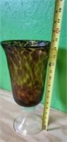 Large Beautiful Murano Style Blown Glass Vase