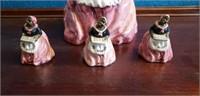 Black Americana Cookie jar, salt, pepper