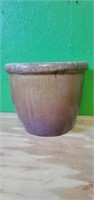 Large Heavy Earth-toned Pottety Planter