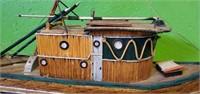 Large Handmade Decorative Match Ship