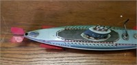 Vintage Japan Nautilus Metal Submarine Working