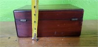 Antique Mahogany Wooden Box Very Cool