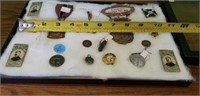 Estate lot Vintage Pins Badges & More