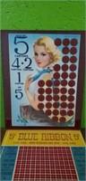 Antique Blue Ribbon Cigarette Game Advertising