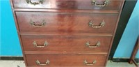 Antique Mahogany Chest of Drawers 5 Drawer