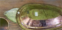 Vintage Turkish Copper Fish Serving Platter Plate
