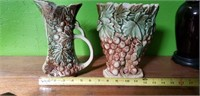 2 piece AS-IS lot Vintage McCoy Pottery Grape
