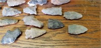 Estate lot of Local Sourced Arrowheads