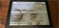 Collectors Case of Misc. Civil War Bullets