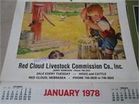 1970S RED CLOUD CALENDARS