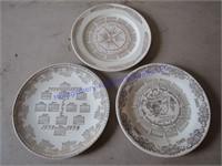 1950'S CALANDER PLATES