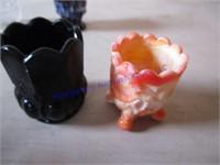 ART GLASS TOOTHPICK HOLDERS