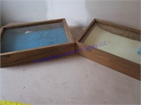 WOOD & GLASS DISPLAY CASES