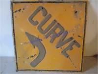 CURVE ROAD SIGN
