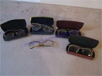 OLD EYE GLASSES & CASES