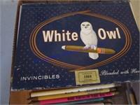 WHITE OWL CIGAR BOX OF PENCILS