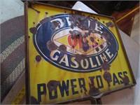 DIXIE OILS GASOLINE SIGN