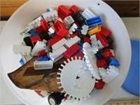 BUCKET OF LEGO'S