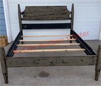 >Rustic Look Queen Bed. This is 1 of a 4 pc. Set.