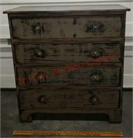 >Rustic looking chest of drawers 1 of 4 pc set. -