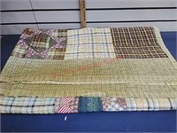Quilt, Saw Tooth Pattern, 54 x 60 in.