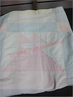 Quilt, sailboat pattern, 52 x 80 in.