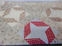 Quilt, pinwheel pattern, 72 x 72 in.