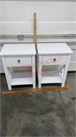 2 New White Night Stands. 1 has a crack on the