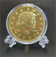Trump 2019 Novelty Coin in Case w/ Stand