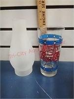 Vintage glassware & hurricane lamps