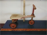 Antique wooden scooter