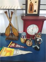 Clock, lake lamp, holiday
