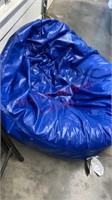 Bean Bag & Metal Folding Chair