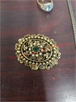 Lot of costume jewelry & silver, jewelry holder,