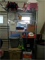 >Garage sale lot - everything on cart (cart IS