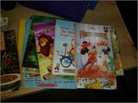 Lot kids books, cook books, suitcase, household,