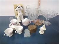 Cut glass ice bucket, china & more