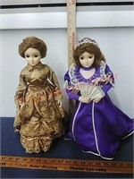 Pres. Ladies dolls Lucretia Garfield, Mary Lincoln