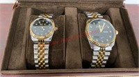 Brand New August Steiner His & Hers Watch Set