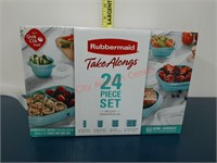 NEW Rubbermaid 24 of Take Along storage set.