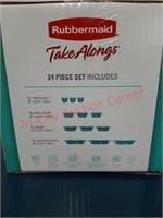 NEW Rubbermaid 24 pc Take Along storage set.